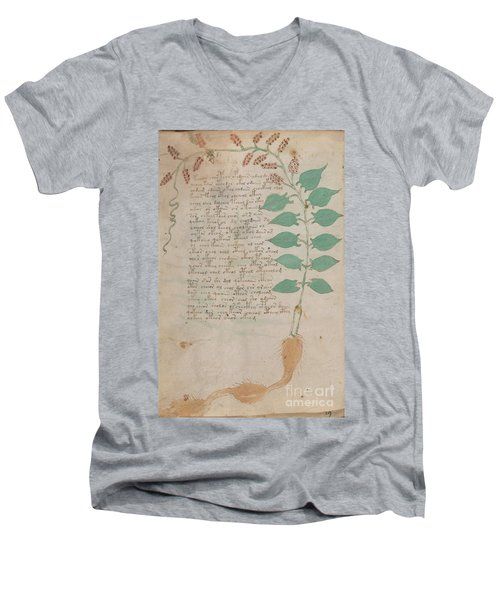 Voynich Flora 07 Men's V-Neck T-Shirt