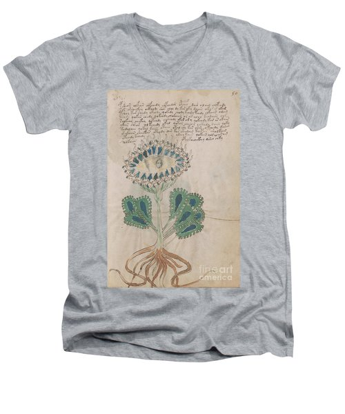 Voynich Flora 11 Men's V-Neck T-Shirt