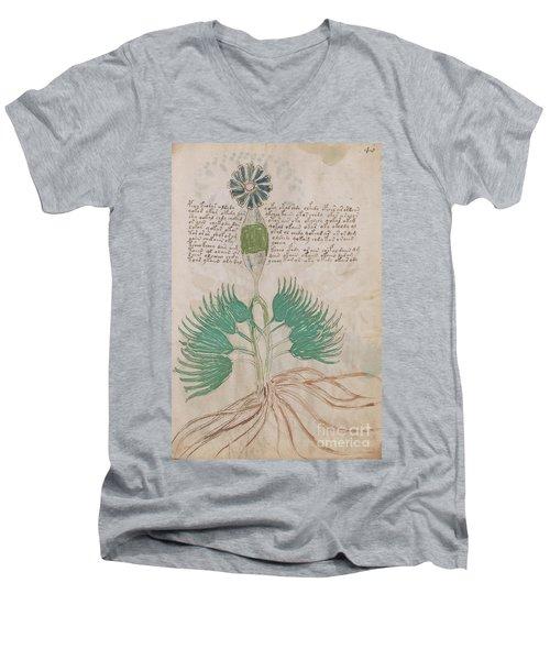 Voynich Flora 16 Men's V-Neck T-Shirt