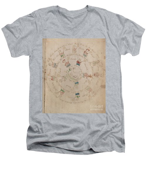 Voynich Manuscript Astro Aries Men's V-Neck T-Shirt