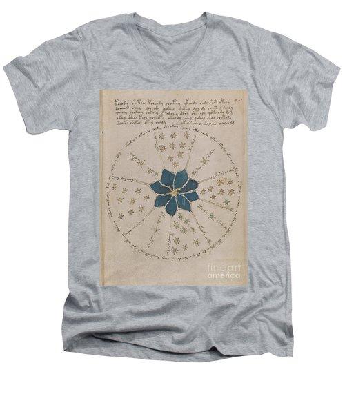 Voynich Manuscript Astro Rosette 2 Men's V-Neck T-Shirt
