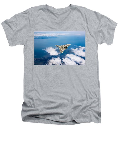Vulcan Over South Wales Men's V-Neck T-Shirt