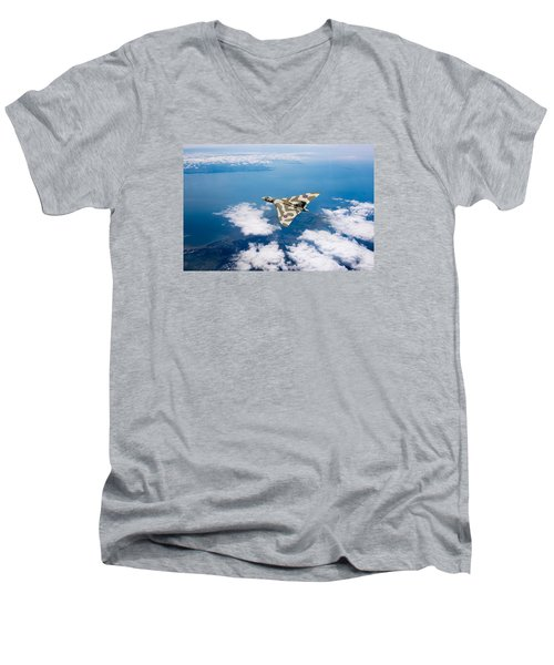 Vulcan Over South Wales Men's V-Neck T-Shirt