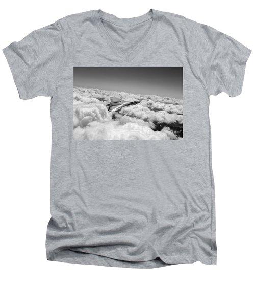 Vulcan Sheen Bw Version Men's V-Neck T-Shirt