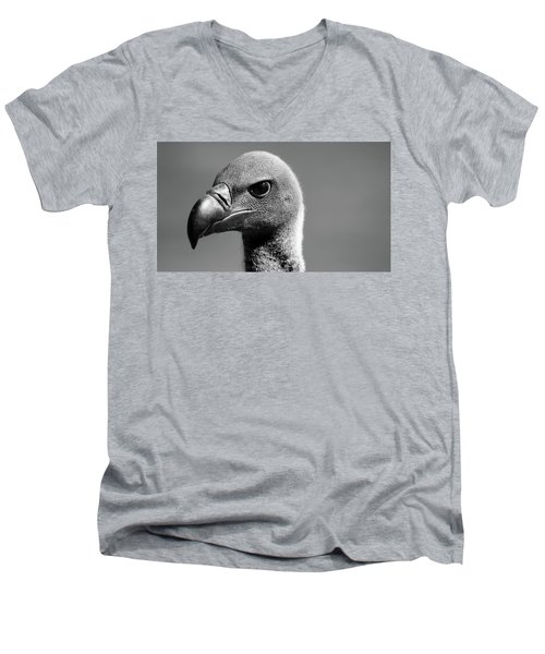 Vulture Eyes Men's V-Neck T-Shirt by Martin Newman