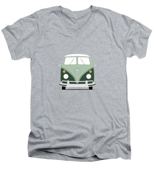 Vw Bus Green Men's V-Neck T-Shirt