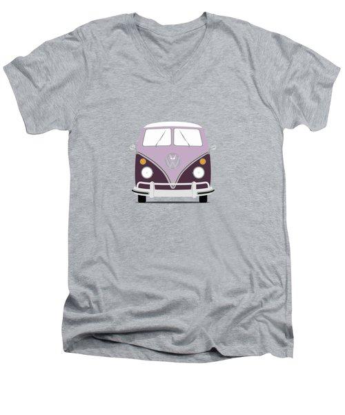 Vw Bus Purple Men's V-Neck T-Shirt by Mark Rogan
