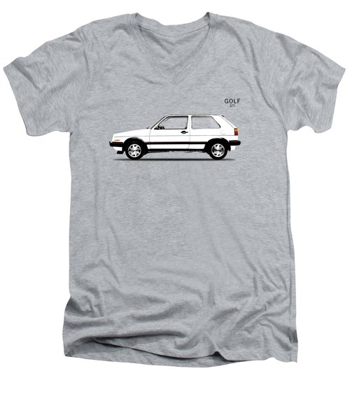Vw Golf Gti Men's V-Neck T-Shirt by Mark Rogan