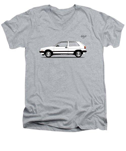 Vw Golf Gti Men's V-Neck T-Shirt