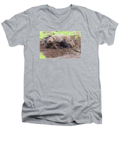 Waddya Want Men's V-Neck T-Shirt by Harold Piskiel