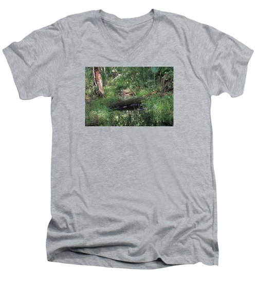 Wading Through The Swamp Men's V-Neck T-Shirt by Kenneth Albin