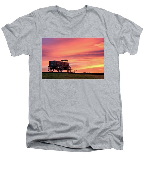 Wagon Afire Men's V-Neck T-Shirt