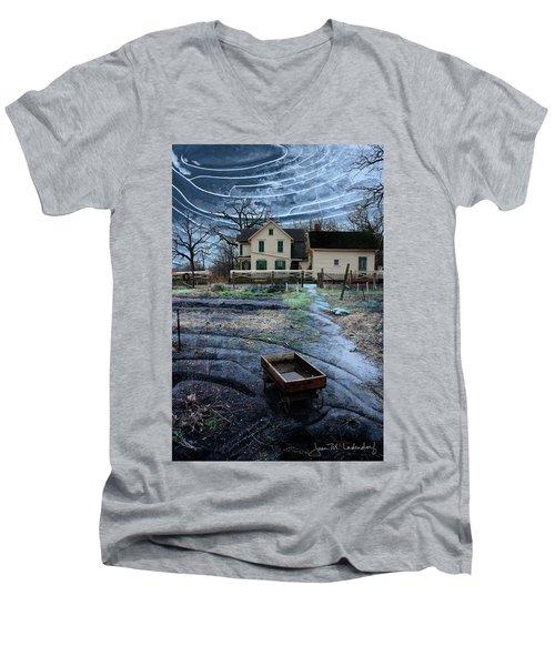 Wagon Men's V-Neck T-Shirt by Joan Ladendorf
