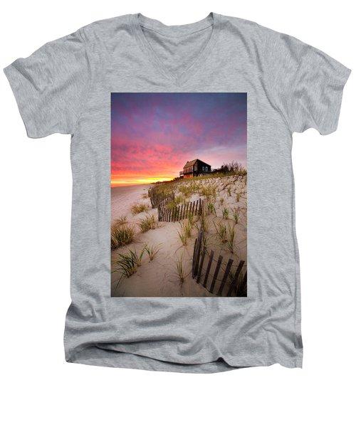 Wainscott Sunset Men's V-Neck T-Shirt