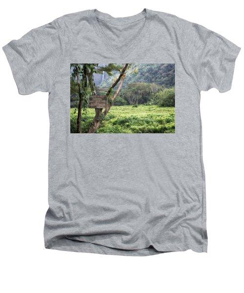 Waipio Valley Road Rules Men's V-Neck T-Shirt