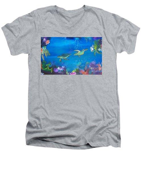 Wait For Me Men's V-Neck T-Shirt by Lyn Olsen