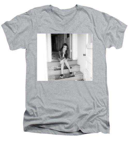 Waiting Men's V-Neck T-Shirt