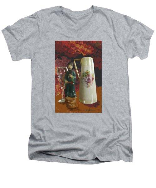 Men's V-Neck T-Shirt featuring the digital art Waiting by Dale Stillman
