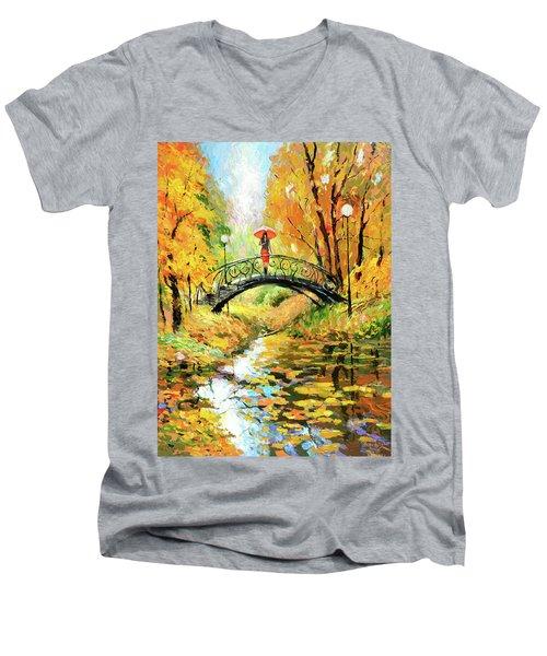 Waiting Men's V-Neck T-Shirt by Dmitry Spiros