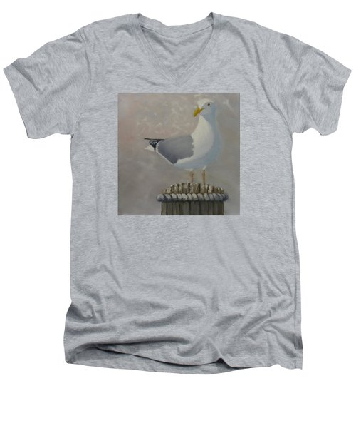 Waiting For Lunch Men's V-Neck T-Shirt