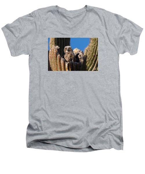Waiting For Mom Men's V-Neck T-Shirt by Dennis Eckel