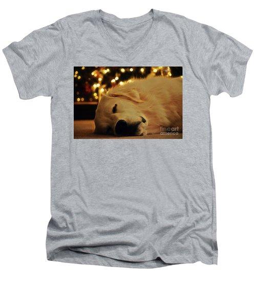 Waiting For Santa Men's V-Neck T-Shirt