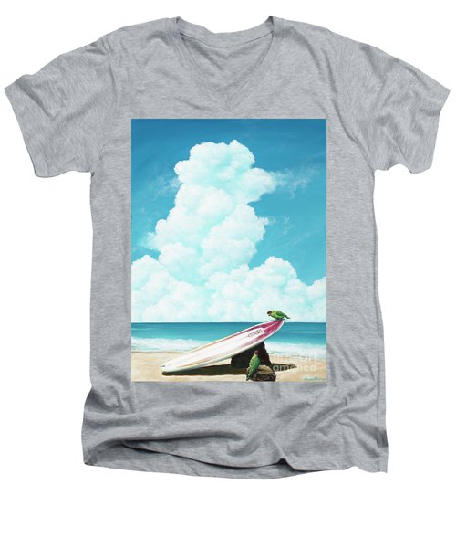 Waiting For Surf Men's V-Neck T-Shirt