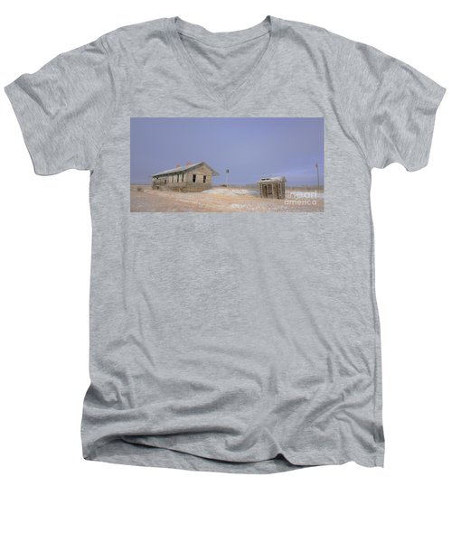Waiting For The Train To Come Men's V-Neck T-Shirt