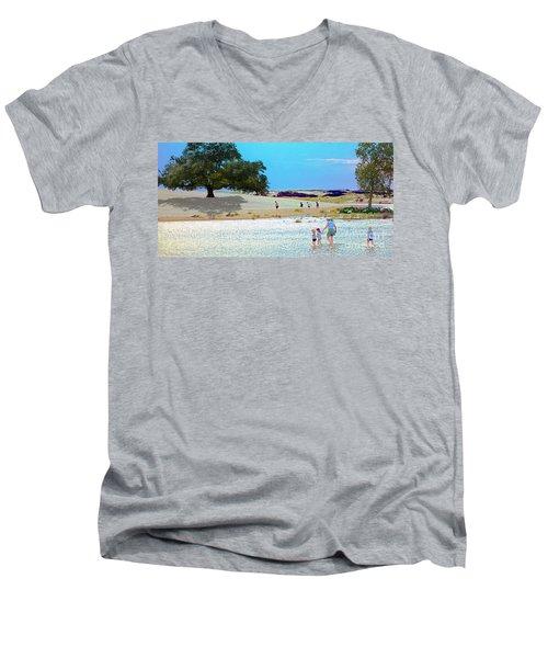 Waiting In The Water Men's V-Neck T-Shirt