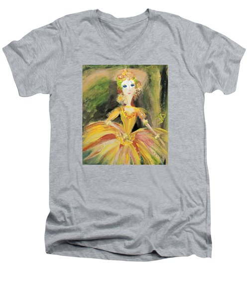 Waiting In The Wings Men's V-Neck T-Shirt by Judith Desrosiers