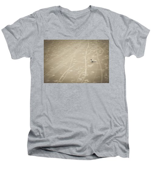 Men's V-Neck T-Shirt featuring the photograph Waiting My Turn by Carolyn Marshall