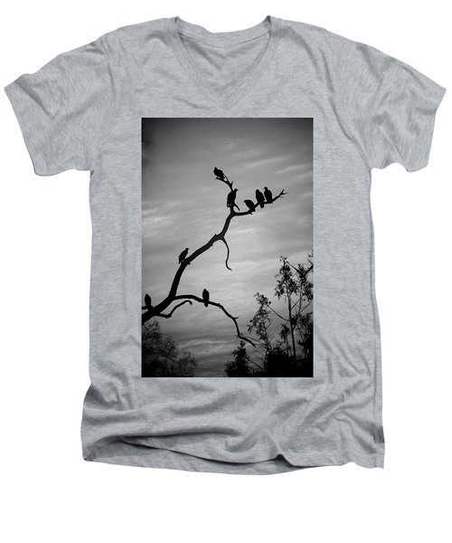 Waiting Men's V-Neck T-Shirt by Robert Meanor