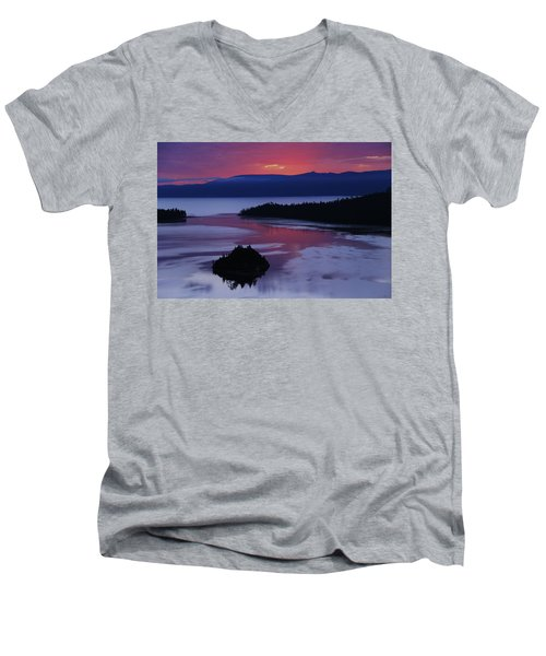 Wake Up In Lake Tahoe  Men's V-Neck T-Shirt