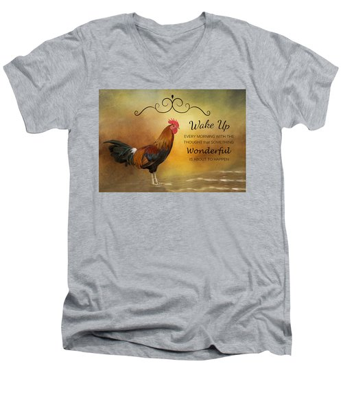 Wake Up Men's V-Neck T-Shirt