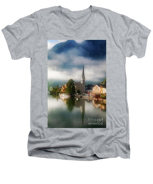 Waking Up In Hallstatt Men's V-Neck T-Shirt