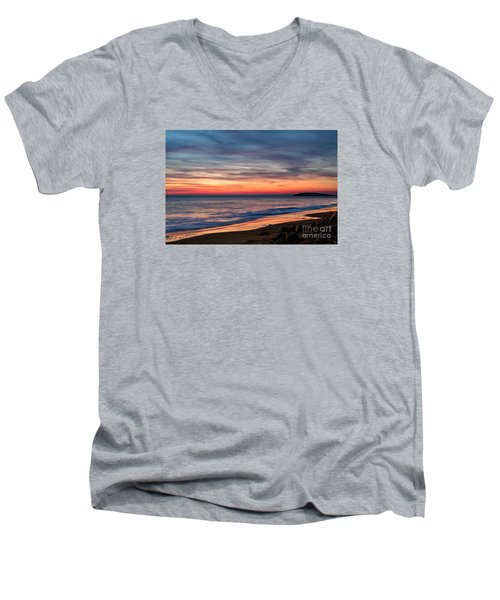Wales Gower Coast Dusk Men's V-Neck T-Shirt
