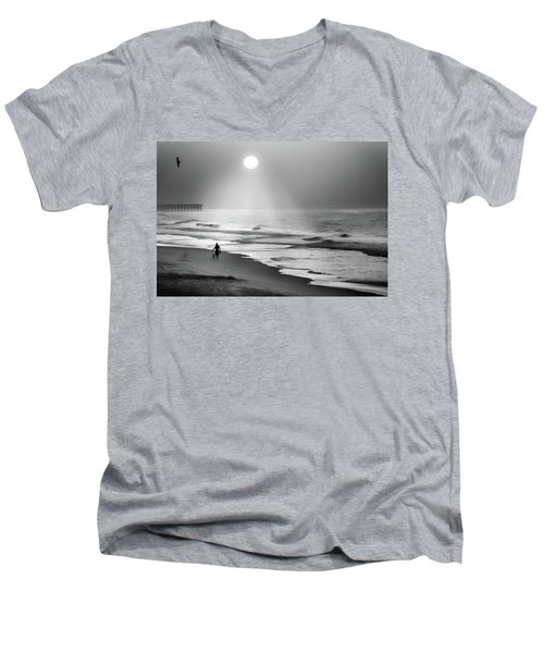 Walk Beneath The Moon Men's V-Neck T-Shirt by Karen Wiles