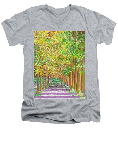 Walk In Park Cathedral Men's V-Neck T-Shirt