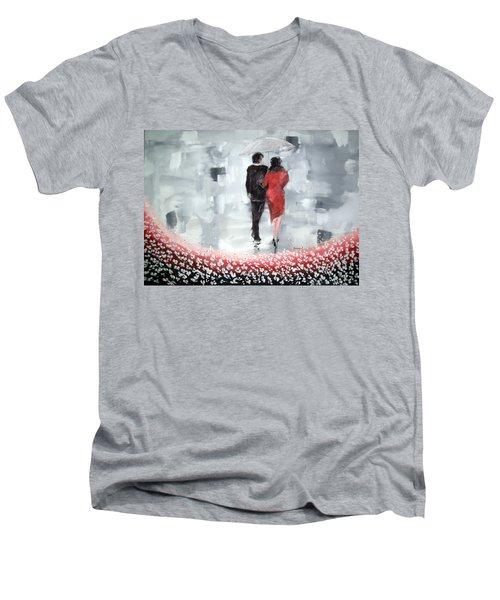 Walk In The Garden Men's V-Neck T-Shirt