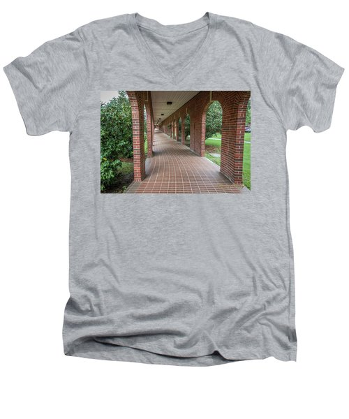 Men's V-Neck T-Shirt featuring the photograph Walk Of Honor 6 by Gregory Daley  PPSA