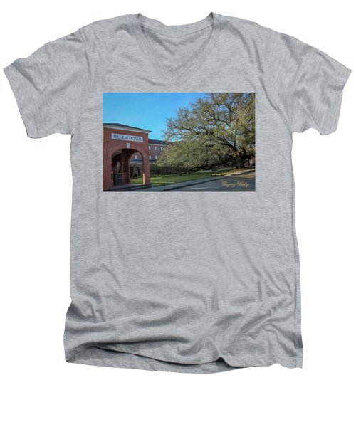 Men's V-Neck T-Shirt featuring the photograph Walk Of Honor Entrance by Gregory Daley  PPSA