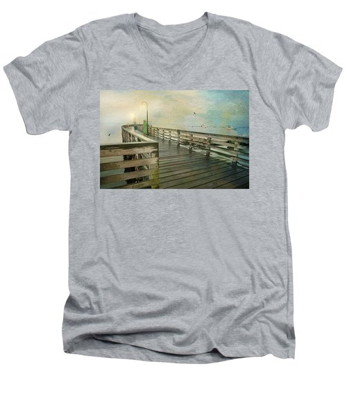 Walk On By Men's V-Neck T-Shirt by Diana Angstadt