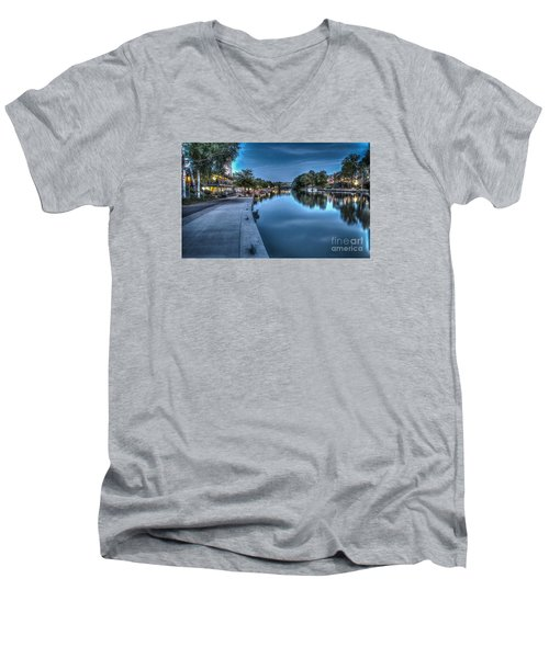 Walk On The Canal Men's V-Neck T-Shirt