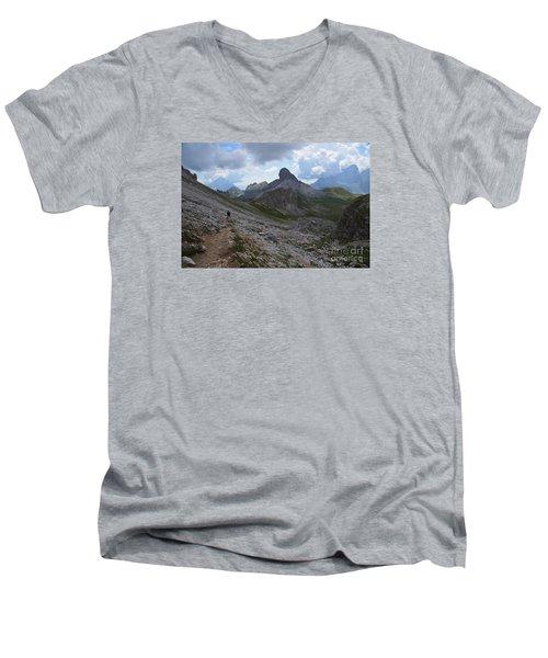 Men's V-Neck T-Shirt featuring the photograph Walk On by Yuri Santin