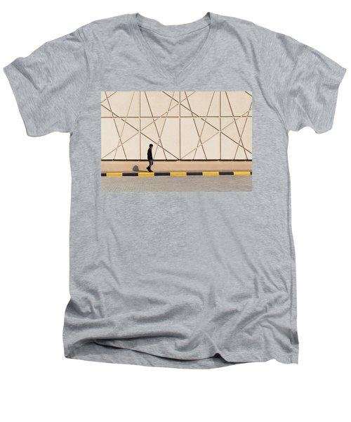 Walk The Line Men's V-Neck T-Shirt