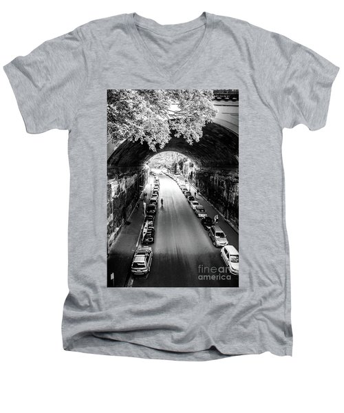 Men's V-Neck T-Shirt featuring the photograph Walk The Tunnel by Perry Webster