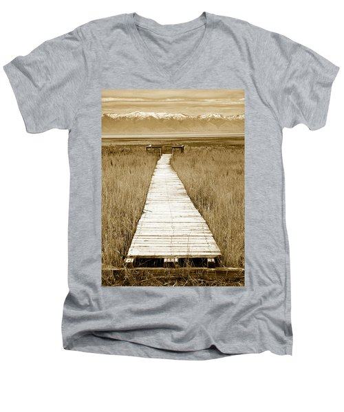 Walk With Me 1 Men's V-Neck T-Shirt