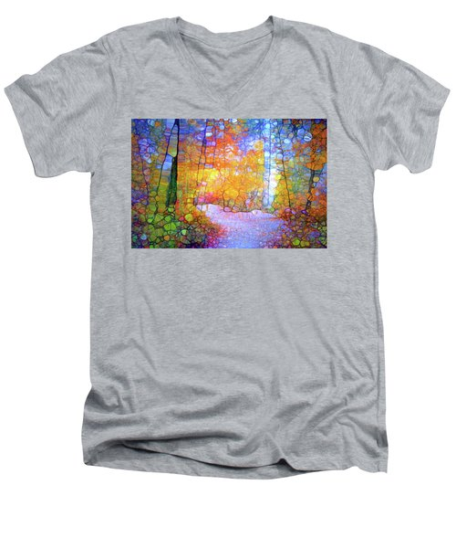 Men's V-Neck T-Shirt featuring the digital art Walk With Me by Tara Turner