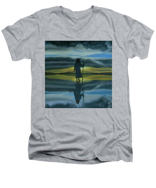 Walk With You Men's V-Neck T-Shirt