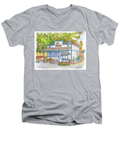 Walker Burger In Walker, California Men's V-Neck T-Shirt